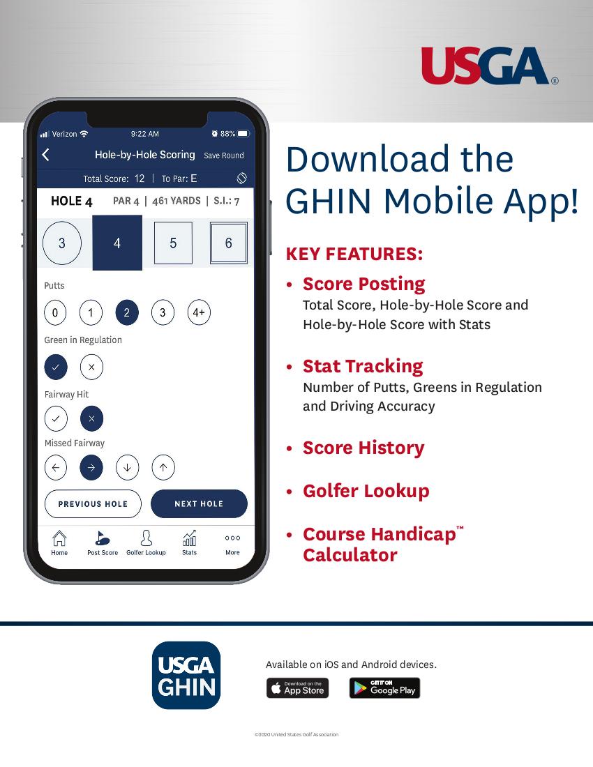 GHIN Mobile App Flyer_2020